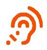 simbolo dell'orecchio